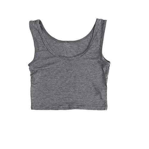 Femmes Mode Sport Gilet Débardeur Gilet Camisole Crop Chemise T Shirt