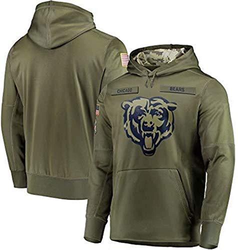Dunbrooke Apparel Chicago Bears Salute to Service Hoodie Camo Men M