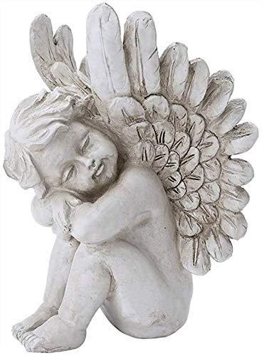 Ybzx Estatua de ángel pequeño de Resina Feng Shui Sala de Estar decoración de Vino decoración del hogar estantería de Armario de ángel Creativo 0913