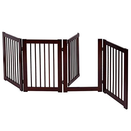COSTWAY Barrera de Puerta de Seguridad Rejilla para Perros