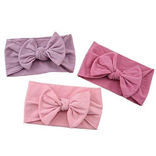 N – A 8 diademas para bebé niña, turbante diadema con lazo, extensible, para bebés, niñas, niños, color aleatorio