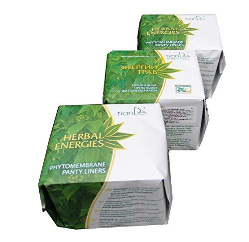 Compresas Diarias Femeninas «Energía de las Hierbas» TIANDE 61901, Paquete de Ahorro - 3x20 un.