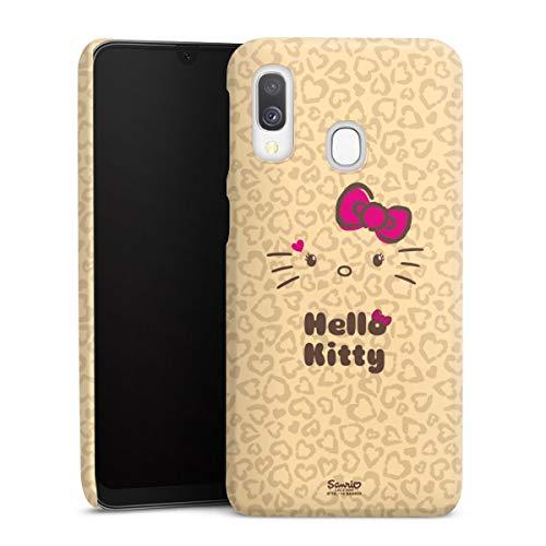 DeinDesign Premium Hülle kompatibel mit Samsung Galaxy A40 Smartphone Handyhülle Hülle matt Hello Kitty Leomuster Fanartikel