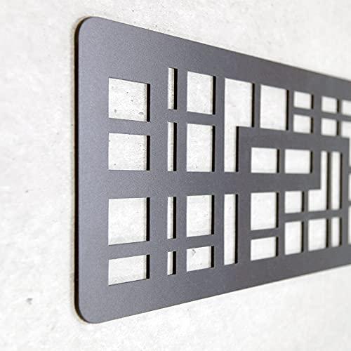 Cabecero Cama Decorativo Económico en PVC - Tipo Forja. Modelo - Portugal (150cm x 60cm, Negro)