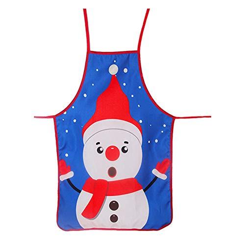 XdiseD9Xsmao schort gemaakt van zacht polyester, Kerstman Elk Snowman beauty-patroon voor de keuken thuis koken BBQ schort feestaccessoires