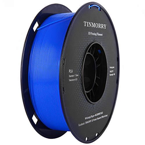 Filament 1,75 PLA Royal Blue, TINMORRY 3D Drucker Filament, PLA Filament 1,75 mm 1 kg Spool