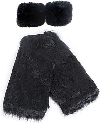 gupiar Women s Fur Leg Warmers Sexy Furry Fuzzy Leg Warmers Soft Boot Cuffs Cover Wrist Warmer product image
