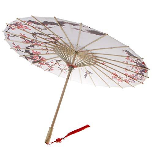 PETSOLA Chinesischen Stil Klassische Handwerk Kunst Regenschirm Tuch Wasserdicht Regenschirm Sonnenschirm - 1