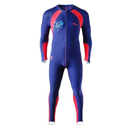 COLPO Badeanzug für Herren in Übergröße Langarm-Badeanzug mit Langen Ärmeln Tauchanzug Surfanzug einteiliger Badeanzug