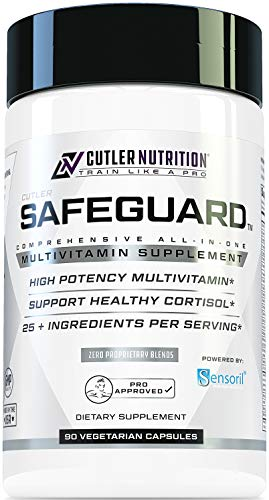 Safeguard High Potency Multivitamin for Adults: Best Daily Multivitamin and Multi Mineral Support Supplement with Sensoril Ashwagandha Extract for Cortisol Support and Adrenal Health, 90 Count