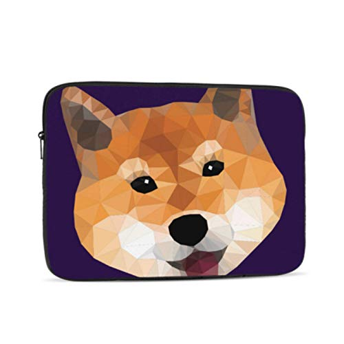 Mac Covers Colorful Shiba Inu Cute Puppy Dog 12inch MacBook Case Multi-Color & Size Choices10/12/13/15/17 Inch Computer Tablet Briefcase Carrying Bag