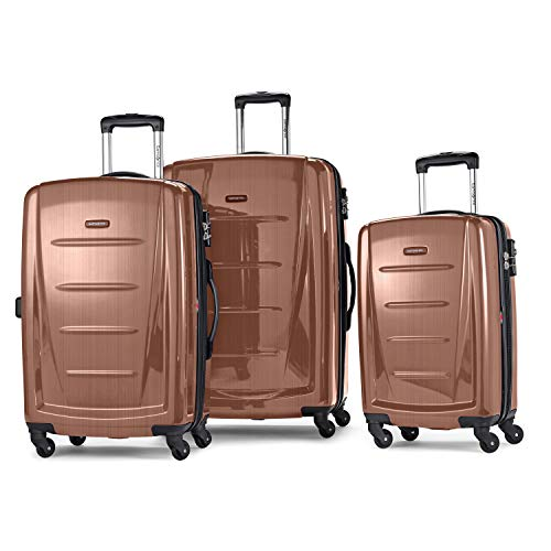 Samsonite Winfield 2 Hardside Luggage with Spinner Wheels, Rose Gold, 3-Piece Set (20/24/28)