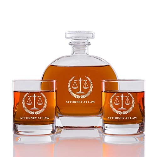Abby Smith - Whiskey Decanter Attorney at Law - Set 3PCS