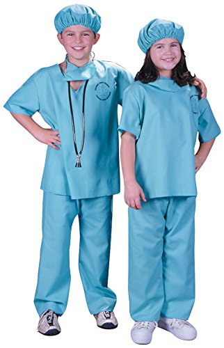 Fun World Doctor Costume, Large 12 - 14, Multicolor
