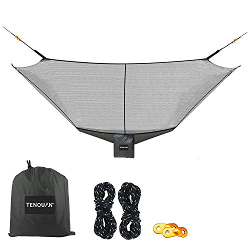 TENQUAN Camping Hammock Bug & Mosquito Net - 360° Protection Perfect Mesh Netting Keeps No-See-Ums, Mosquito Insects Out Net with Storage Tray for Hammock Camping - Fits Almost All Hammocks