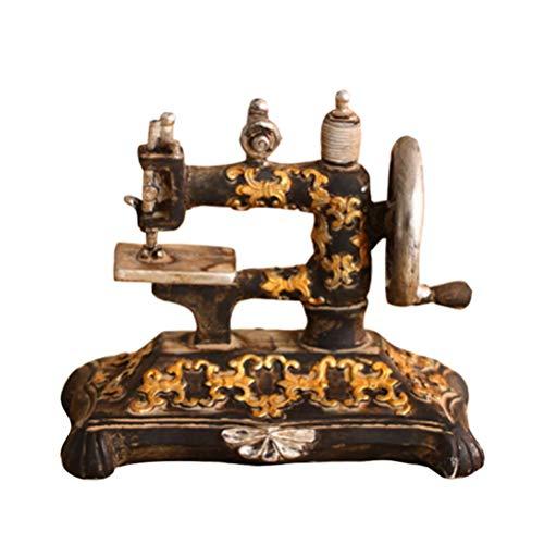 SUPVOX Vintage retro antigua máquina de coser modelo decoraciones de escritorio adornos regalos de cumpleaños