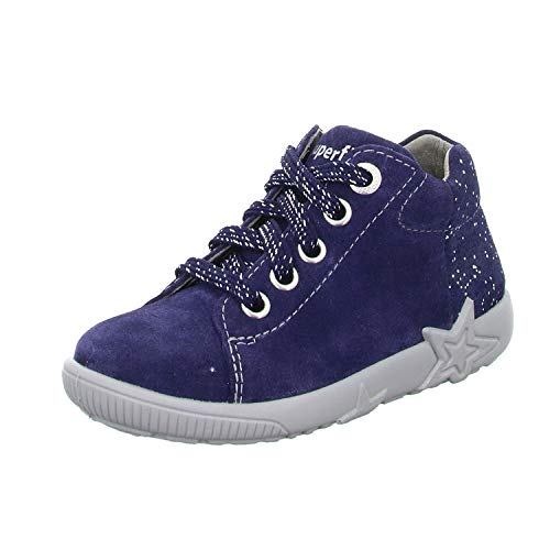 Superfit Baby Mädchen STARLIGHT Lauflernschuhe Sneaker, Blau (Blau 80), 21 EU