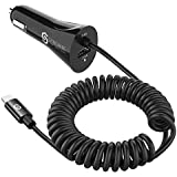 Syncwire iPhone Car Charger - Upgrade [Apple MFI Certified] 4.8A/24W Car Charging Adapter with Built-in Coiled Lightning Cable for Apple iPhone 12/11/Xs/XS Max/XR/X/8/7/6s/6 Plus, iPad & More