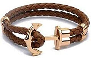 vintage leather wristband Anchor Bracelet for men and women-b040