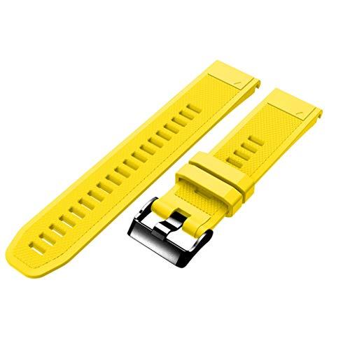 TPU Gurt Uhrarmband -Taste Mit Edelstahlschnalle Garmin Fenix 5/5 Plus Smart Watch Ersatz weichen Gurt Gurt Wuqy
