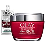 Olay Regenerist Ultra Rich Face Moisturizer with Vitamin B3+, Amino Peptide & Shea Butter, 1.7 Oz + Whip Face Moisturizer Travel/Trial Size Gift Set