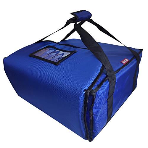Lollipoper: Bolsa de Pizza Térmica 45X45X20 cm (2 cm Grosor) Para Reparto de Comida a Domicilio en Moto. Azul