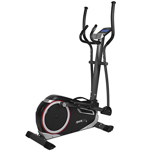 SportPlus Cross Trainer with App-Control, Google Street View, max. Wattage 225 Watt, approx. 17 kg Flywheel, 24 Electronic Resistance Levels, Max. User Weight 150 kg, Safety tested