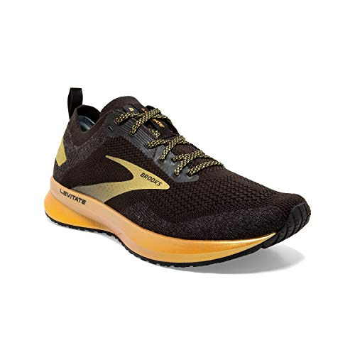Brooks Womens Levitate 4 Running Shoe - Black/Gold - B - 9.5