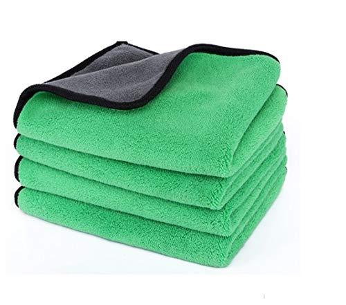 5 stks/pak 30 * 40 cm auto zorg polijsten wassen handdoeken polyester vezelreinigingsdoek microvezel wassen drogen handdoek 5 pcs Groen
