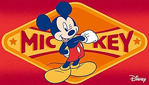 Tapis pour enfants avec Mickey Mouse - Tapis pour enfants - Tapis pour enfants - Tapis pour enfants - Tapis mural - Bordeaux - Modèle de tapis pour enfants Mickey Mouse - Ce beau tapis pour enfants avec Mickey mesure 50 x 80 cm.