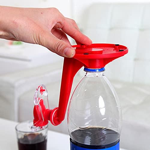 HUANGDAN Dispensador de refrescos de 2 Piezas Dispensador de Agua de Bebida de Coque Reutilizable con Interruptor de presión Manual para Bares de Fiesta Aparatos de Cocina Máquinas de Ahorro