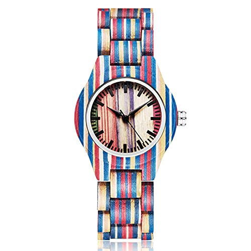 Wood Watch Women Wristwatches Bamboo Wooden Band Wrist Clock Bracelet Watches colorfulwoodwatch1