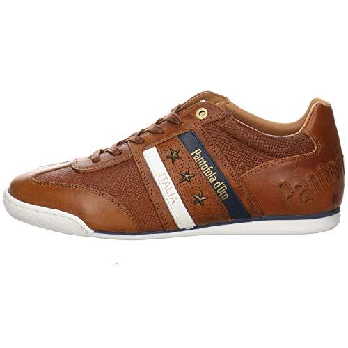 Pantofola d`ORO Imola Stampa Baskets en cuir lisse pour homme Marron - Marron - marron, 43 EU