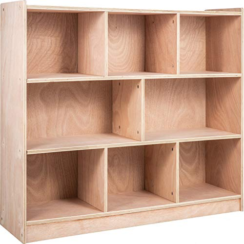 Happybuy Classroom Storage Cabinet Plywood 8-Section Preschool Storage Shelves 36