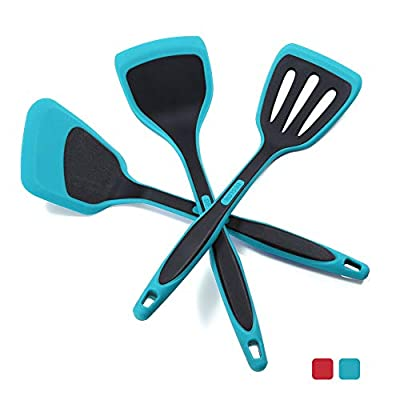 DESLON 304 Stainless Steel Cooking Tool (Spatulas Three-piece set - Teal Blue)