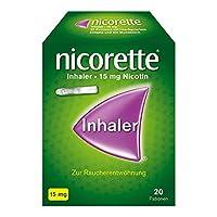 MIT DEM RAUCHEN AUFHÖREN – Nicorette Inhaler unterstützt Sie beim Aufhören mit dem Rauchen, zusammen mit Ihrer Willenskraft kann der Nikotininhaler Ihnen helfen Nichtraucher zu werden LINDERT RAUCHVERLANGEN – Der Inhaler lindert Rauchverlangen und be...