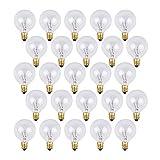 Lampadine di ricambio OxyLED G40 per luci esterne da giardino, con 25 lampadine chiare Bianco caldo livello A