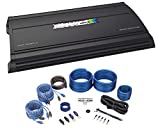 AUTOTEK MM4020.4 Mean Machine 4000w 4-Channel Car Stereo Amplifier Class A/B Bundle with Rockville RWK42 4 Gauge 4 Chan Car Amp Wiring Installation Wire Kit (2) RCA's