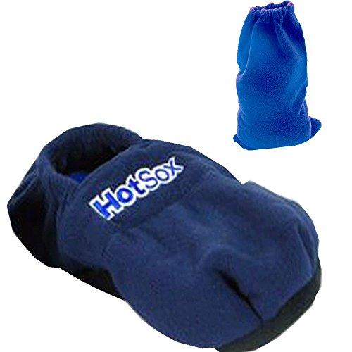 Hot Sox® Aufheizbare Hausschuhe Körnerpantoffeln Wärmeschuhe Mikrowellenschuhe - blau 41/45