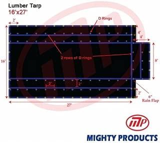 16' x 27' Xtarps Flatbed Truck Tarp - Light Weight Lumber Tarp with 4' Drop