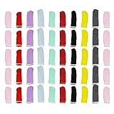KESYOO 50pcs Fingerlinge Fingerschutz Baumwolle Schweißabsorbierende Rutschfest Atmungsaktive Finger Abdeckung Bunt Anti Rutsch Malerei Kunst Basteln Handwerk Schutzhüllen Zufällige Farbe