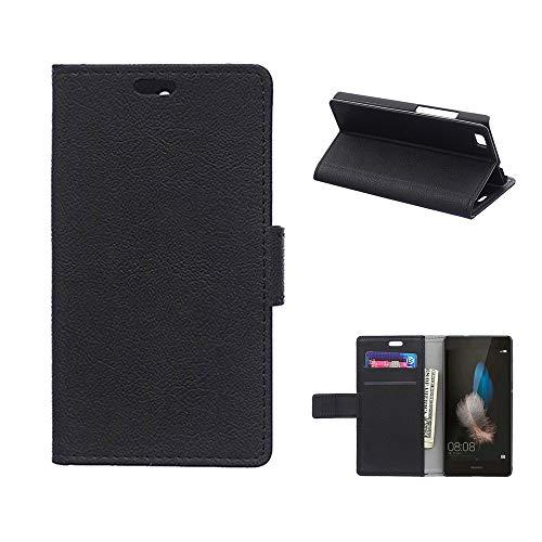 KATUMO®Schale Kompatibel mit Huawei P8 Lite/Huawei ALE-L21, PU Leder Brieftasche Handyhülle Cover für P8 Lite Hülle Schutzhülle Bookstyle Schale mit Standfunktion & Kreditkartenfach