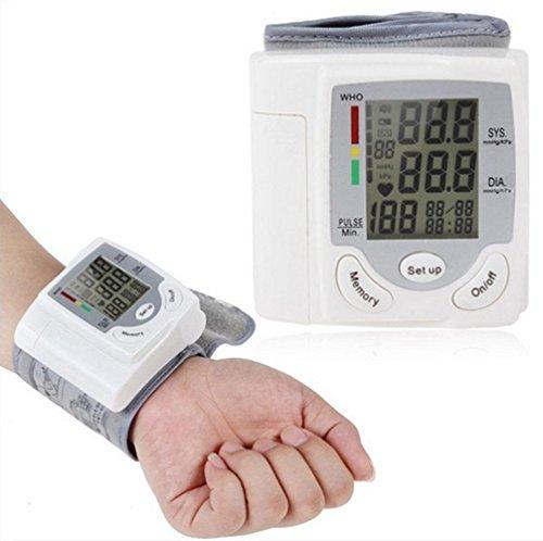 HRRH Handgelenk-Typ Automatische Englisch Elektronische Sphygmomanometer Portable Haushalt Intelligente Reale Blutdruck Messgeräte Genauigkeit zu Medical Grade Home Blutdruckmessgerät, weiß