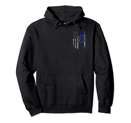 Two-Sided EMT / First Responder Flag Hoodie