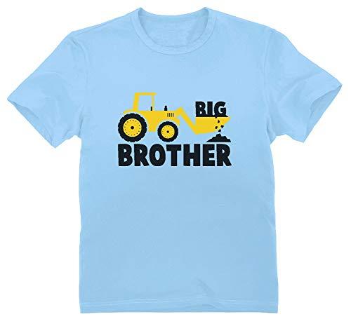 Green Turtle T-Shirts Camiseta para niños - Big Brother - Regalo Original de Cumpleaños para Niños Que Son Hermanos Mayores con Estampado de Tractor