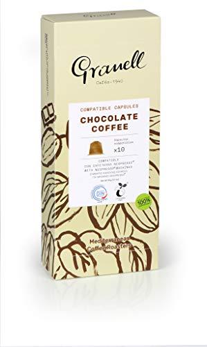 Granell Cafes-1940 Granell - Aromas - Espresso Chocolate | Capsulas Compatibles Nespresso 100% Café Arabica - 10 Cápsulas De Café Compostables 50 g