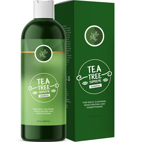 Tea Tree Shampoo for Dry Scalp - Clarifying Shampoo for Dry Hair with Tea Tree Oil for Hair and Rosemary Essential Oil - Sulfate Free Shampoo for Color Treated Hair Thin Hair and Dry Scalp Treatment