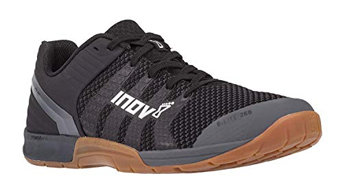 Inov-8 F-Lite 260 Knit - Multipurpose Cross Training Shoes - Athletic Shoe for Gym, Training and Weight Lifting - Wide Toe Box - Black/Gum 8.5 M UK