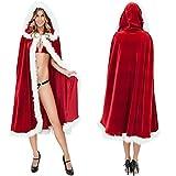 Newin Star Weihnachts-Kostüm für Damen, 39 Zoll, Weihnachtsmann-Kostüm mit Kapuze, Rot
