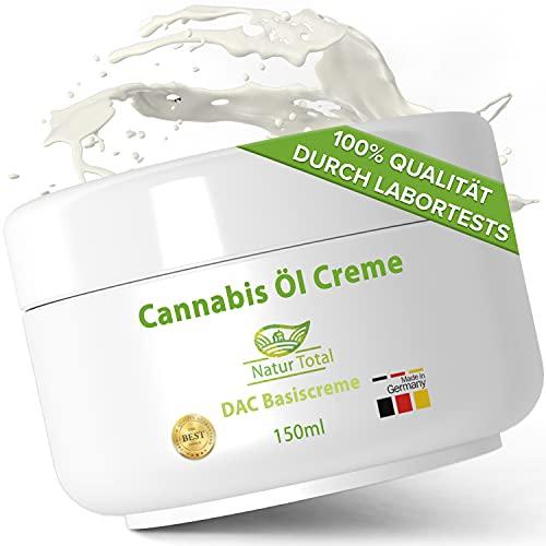 Pure Hanföl Creme CB ÖL: 150ml Cannabis Öl eingearbeitet in eine Basiscreme nach DAC Deutsche Apotheken Codex